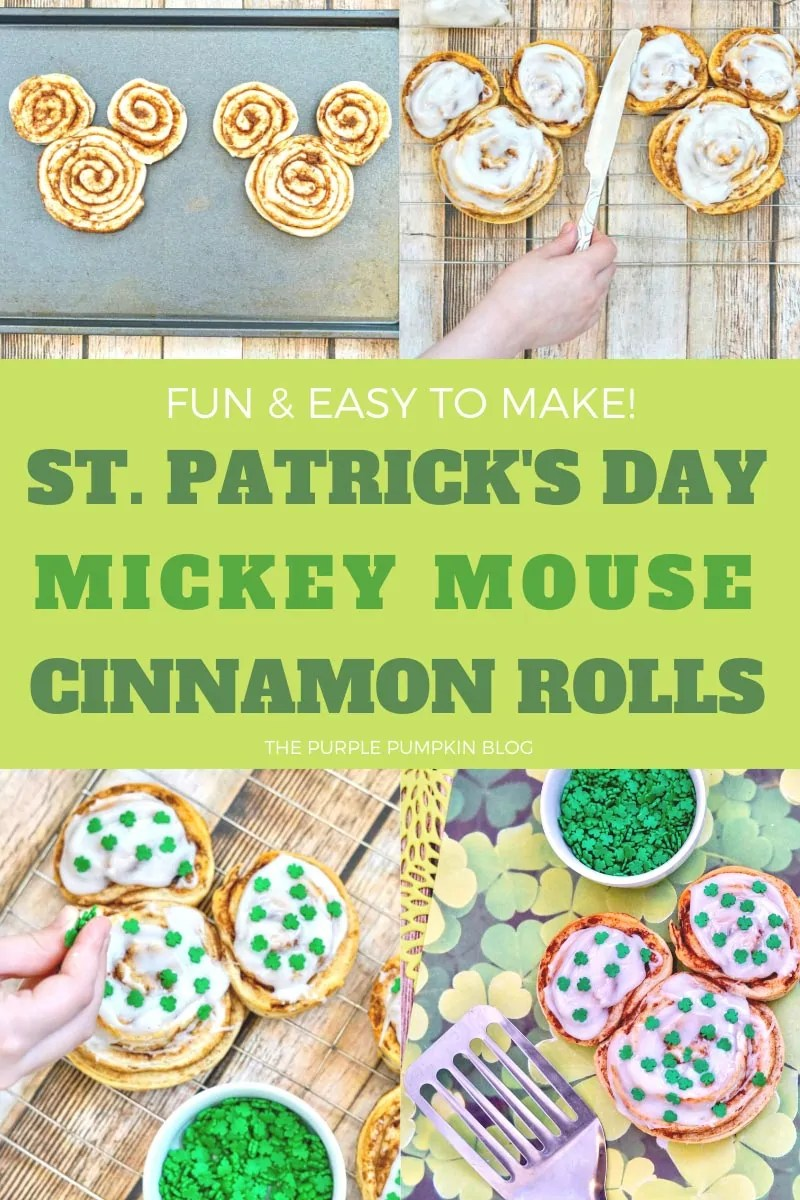Fun & Easy To Make! St. Patrick's Day Mickey Mouse Cinnamon Rolls