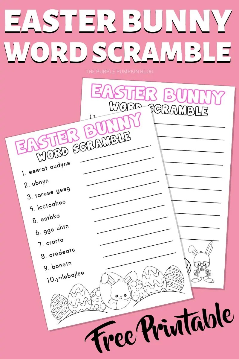 Easter Bunny Word Scramble