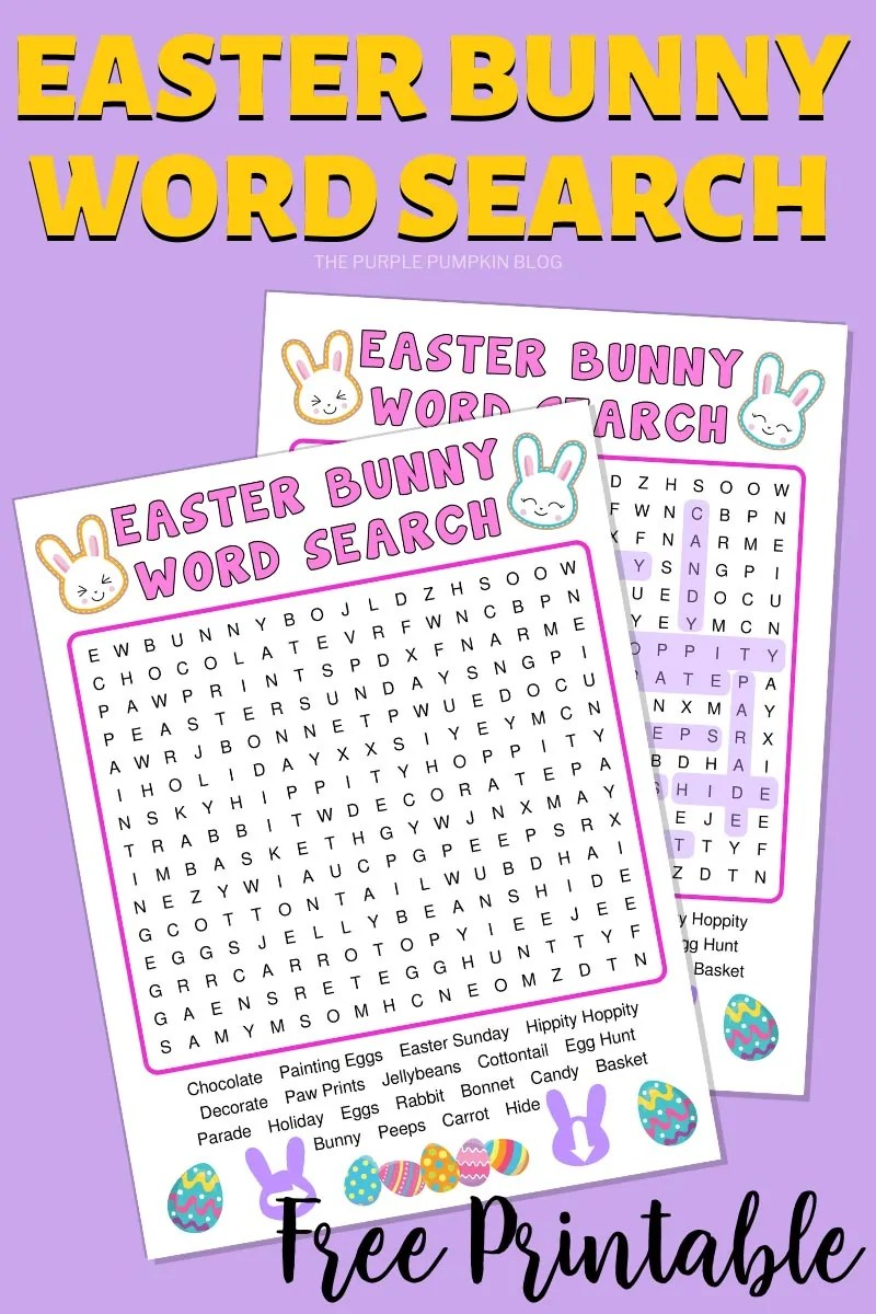 Easter Bunny Word Search