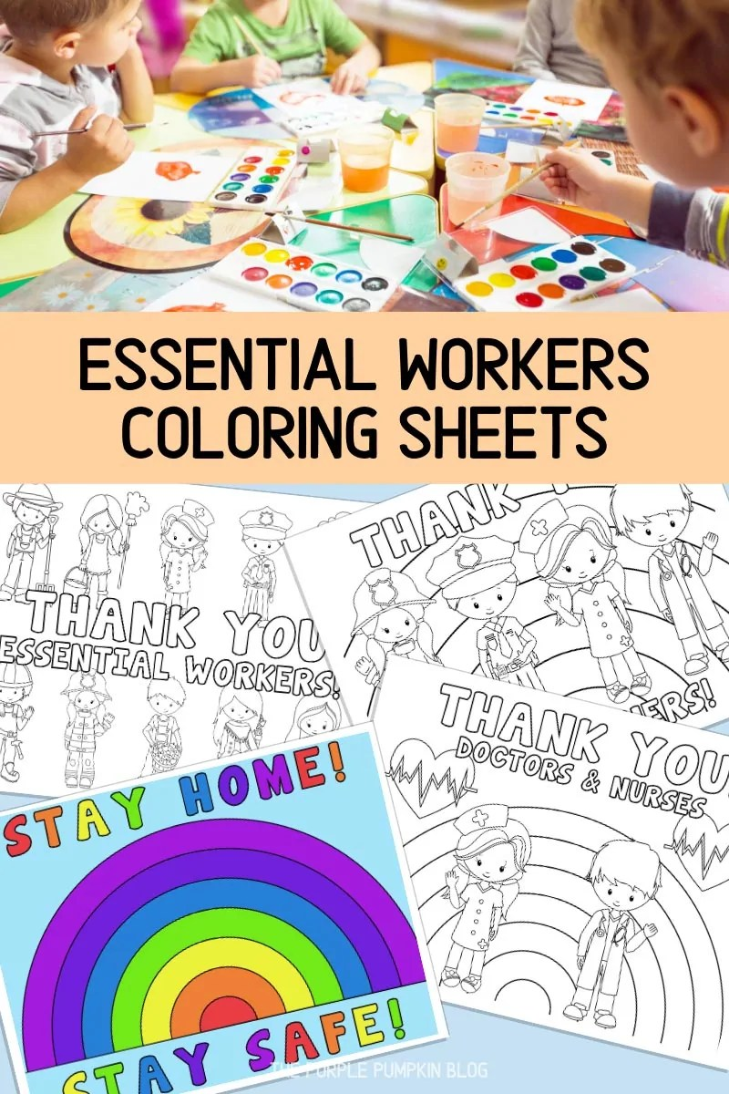 Essential Workers Coloring Sheets