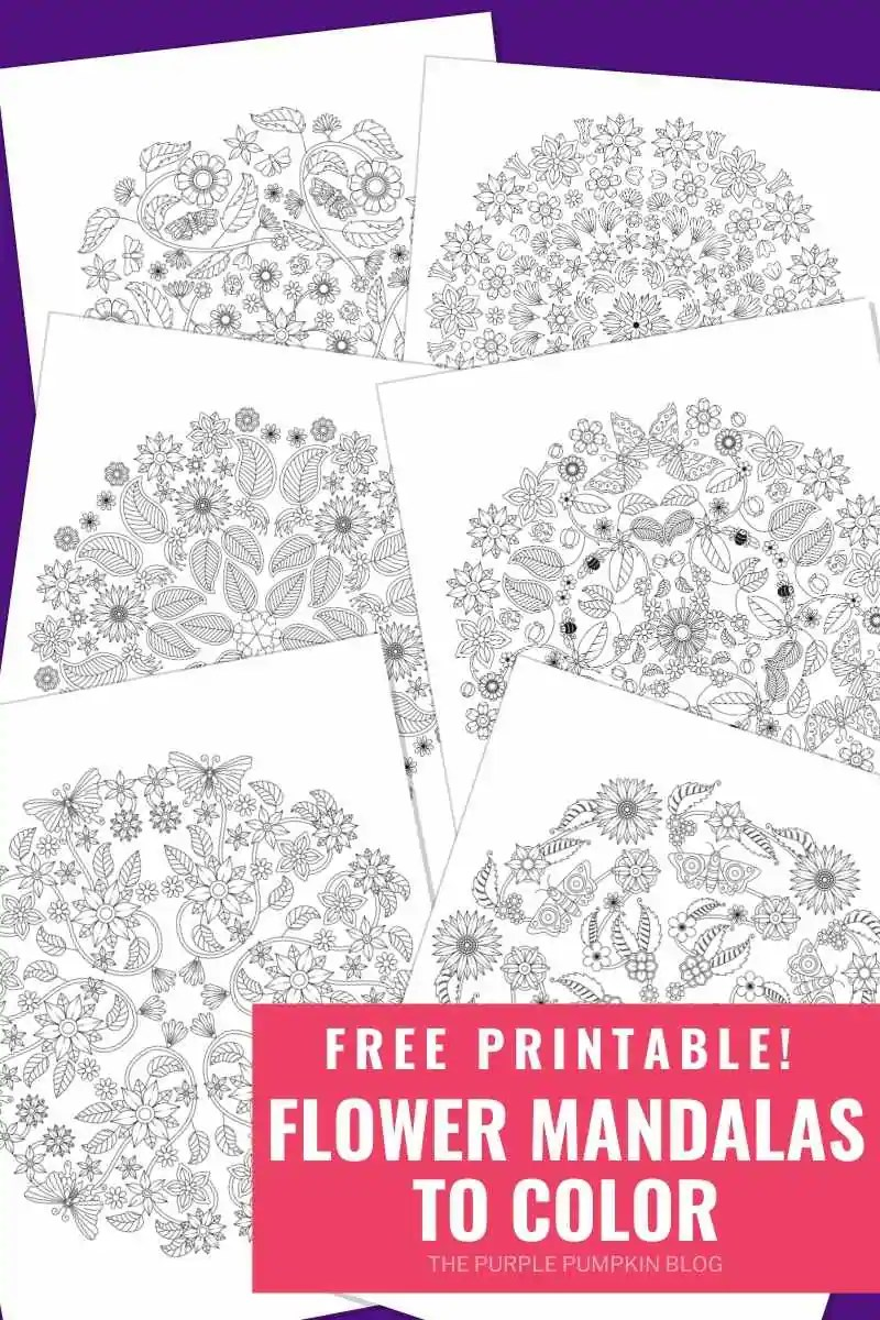 Free Printable Flower Mandalas to Color