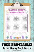 Free Printable Easter Bunny Word Search
