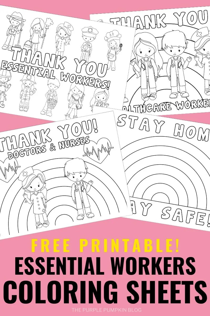 Free Printable Essential Workers Coloring Sheets