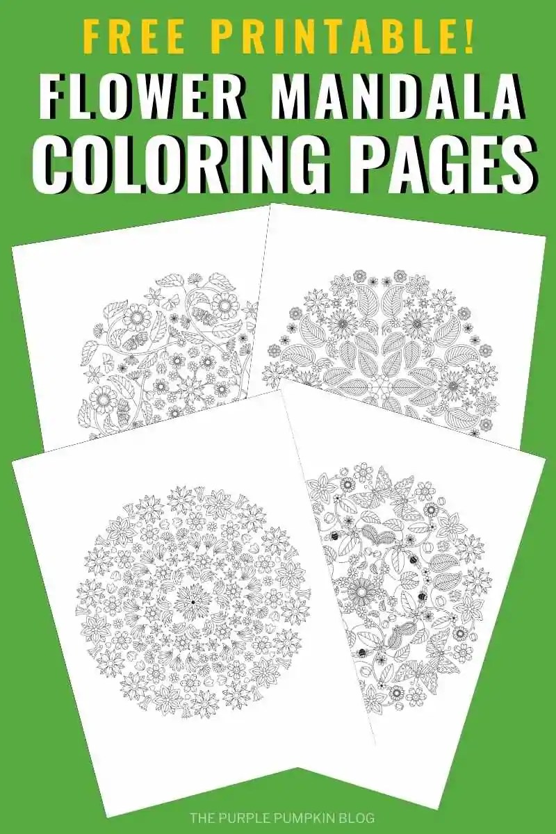 Free Printable Flower Mandala Coloring Pages