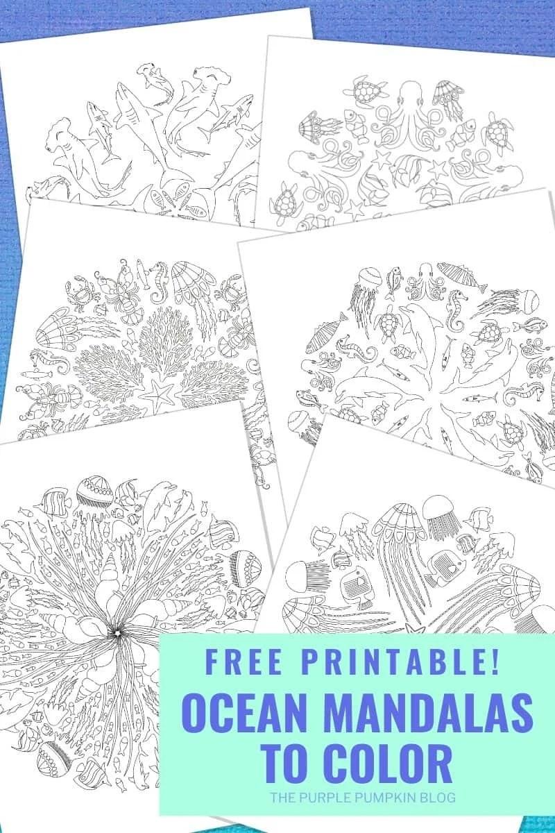 Free Printable Ocean Mandalas
