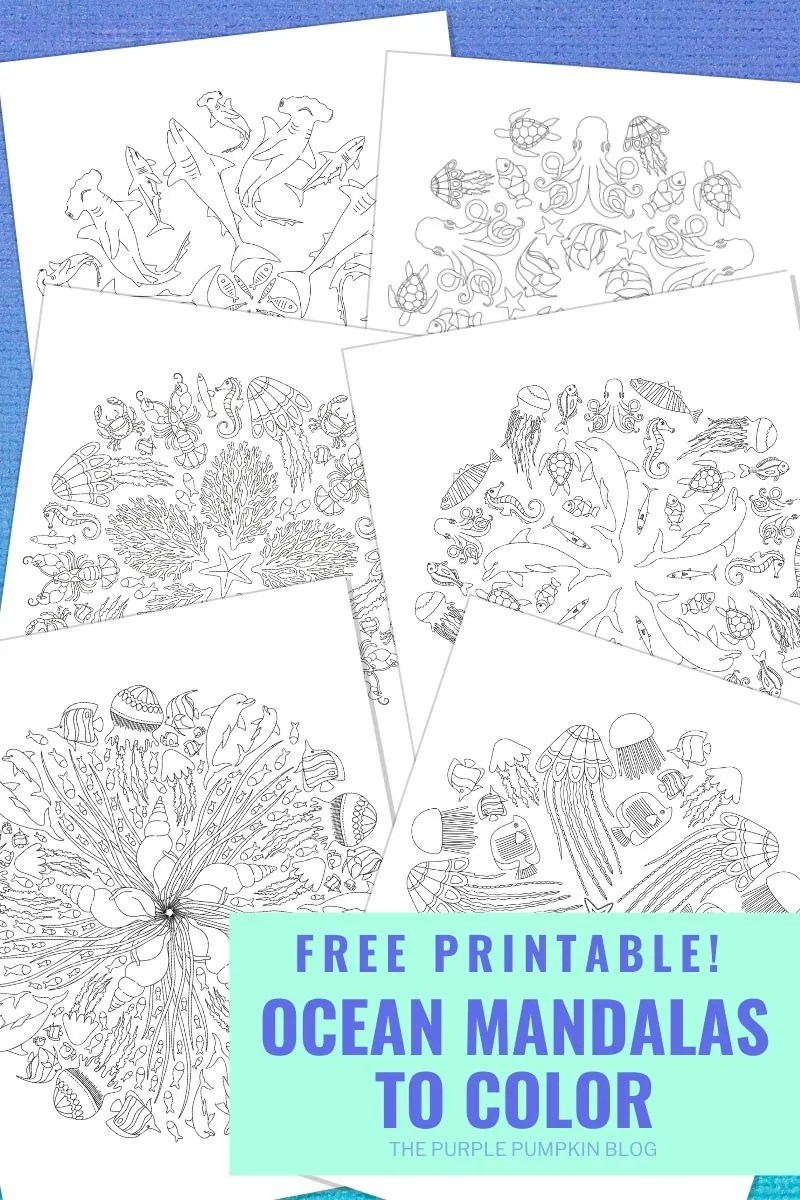 Free Printable Ocean Mandalas to Colour in