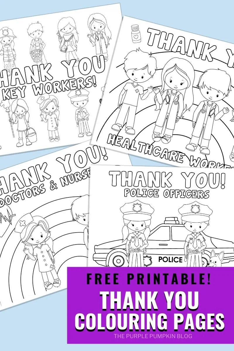 Free Printable Thank You Colouring Pages