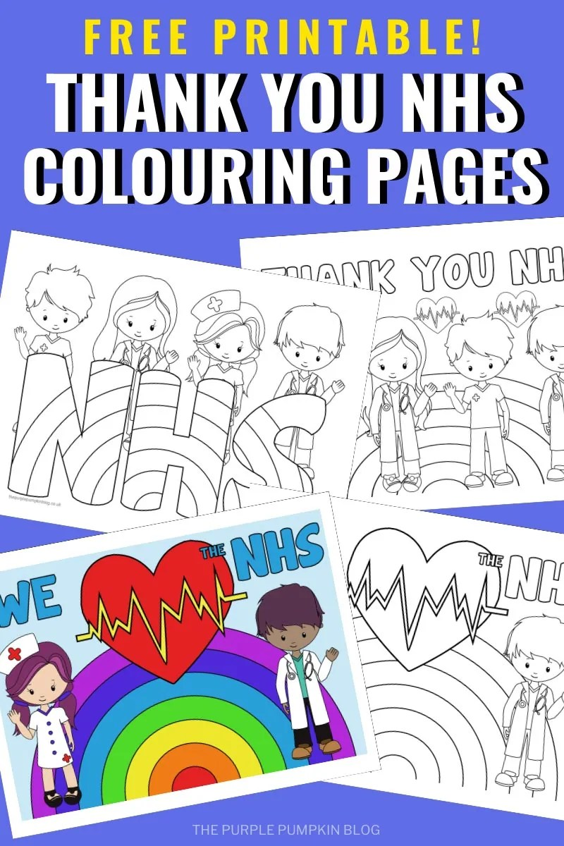 Free Printable Thank You NHS Colouring Pages