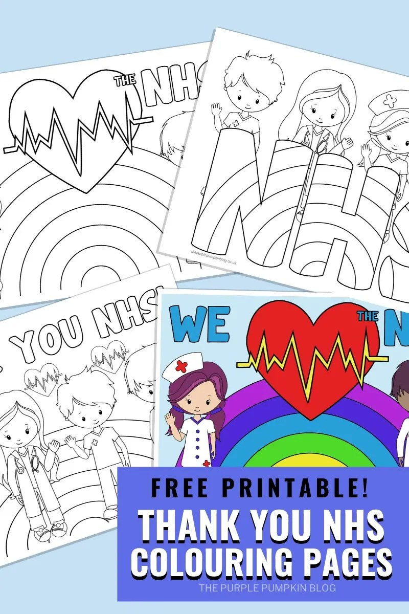 Thank You NHS Colouring Pages To Print