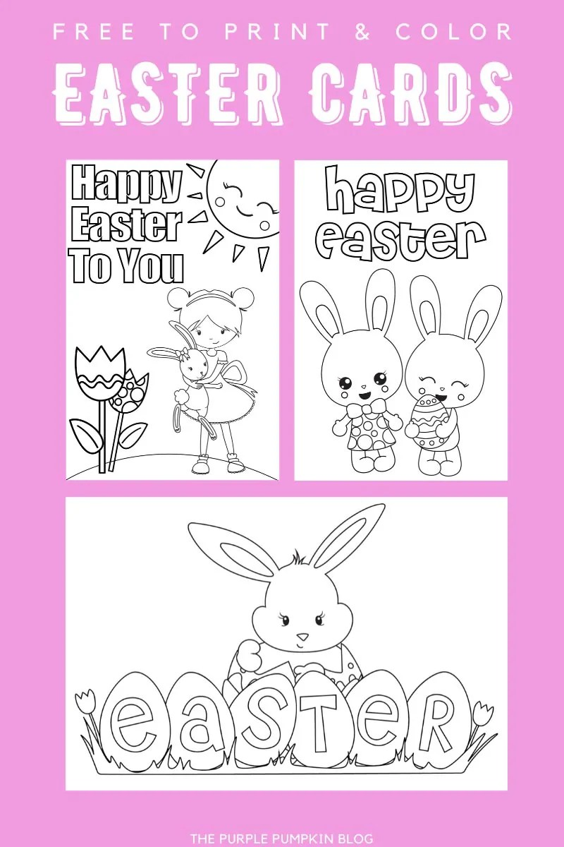 Print & Colour Easter Cards
