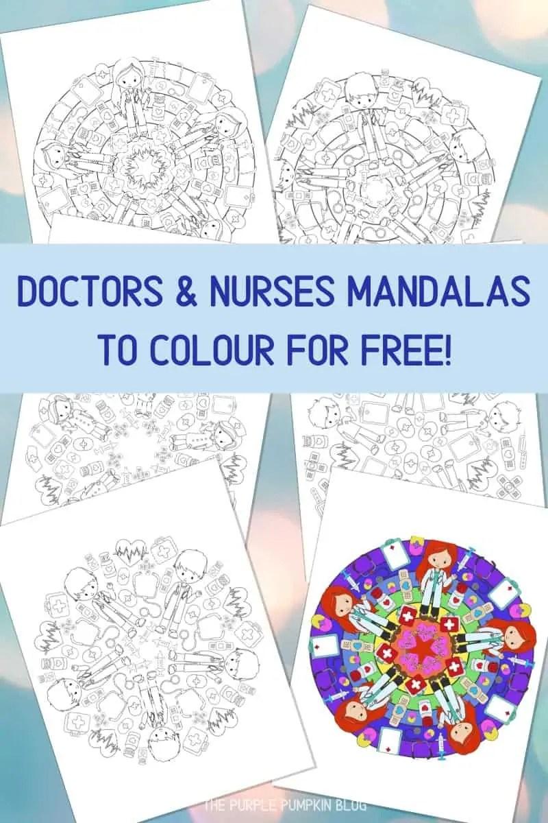 Doctors & Nurses Mandalas To Colour For Free
