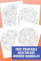 Free Printable Healthcare Worker Mandalas