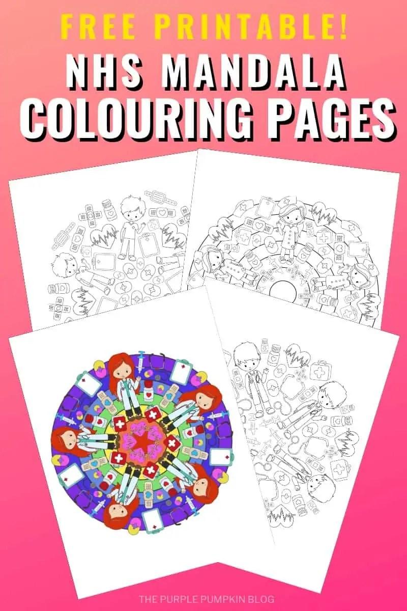 Free Printable NHS Mandala Colouring Pages