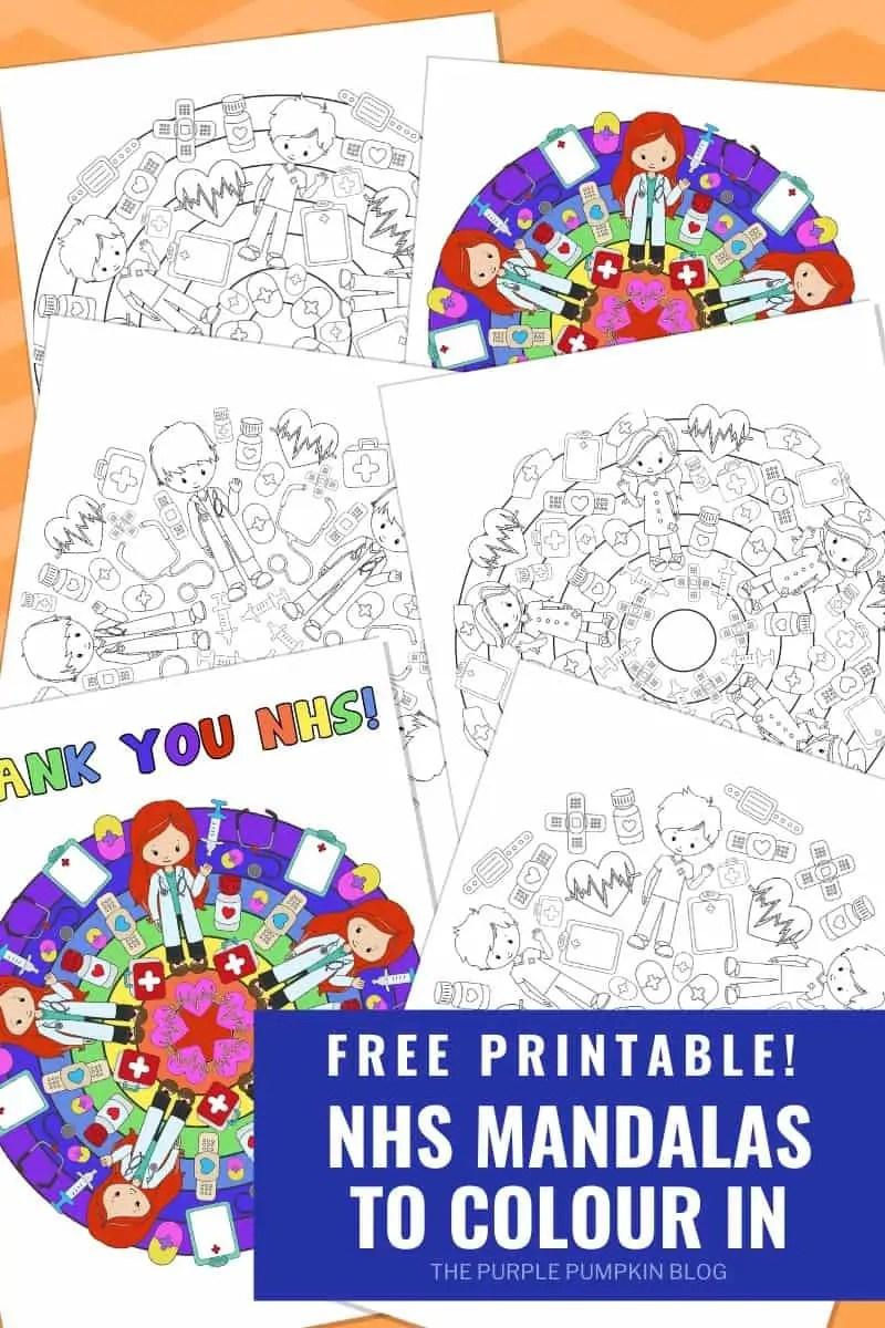 Free Printable NHS Mandalas To Colour In