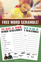 Free Word Scramble Puzzles WWII