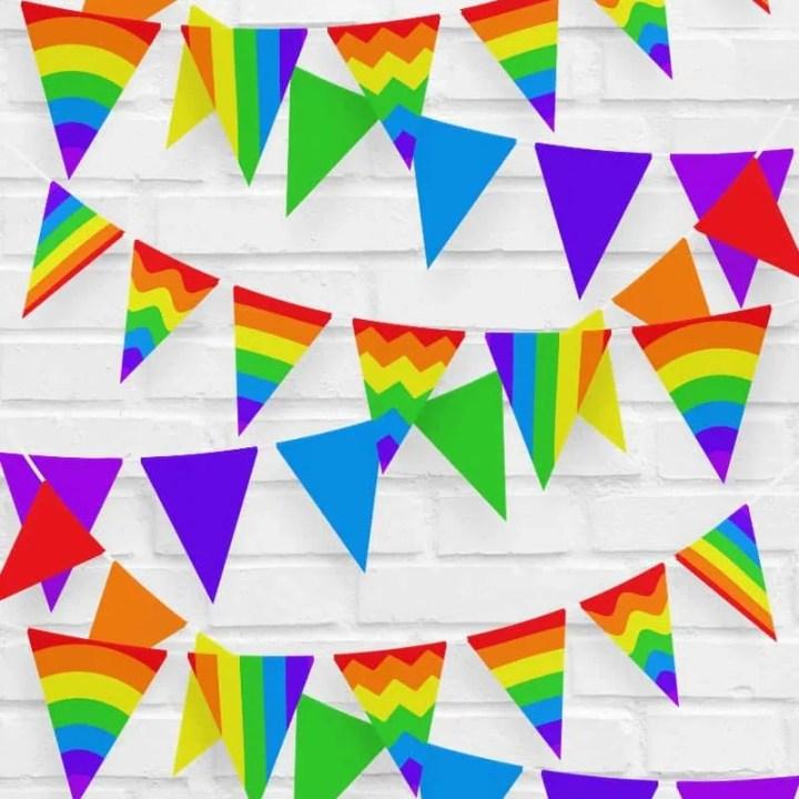 Rainbow Bunting To Print