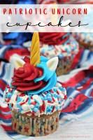 4th of July Patriotic Unicorn Cupcakes