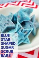 Blue Star Shaped Sugar Scrub Bars