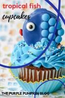 Blue Tropical Fish Cupcakes
