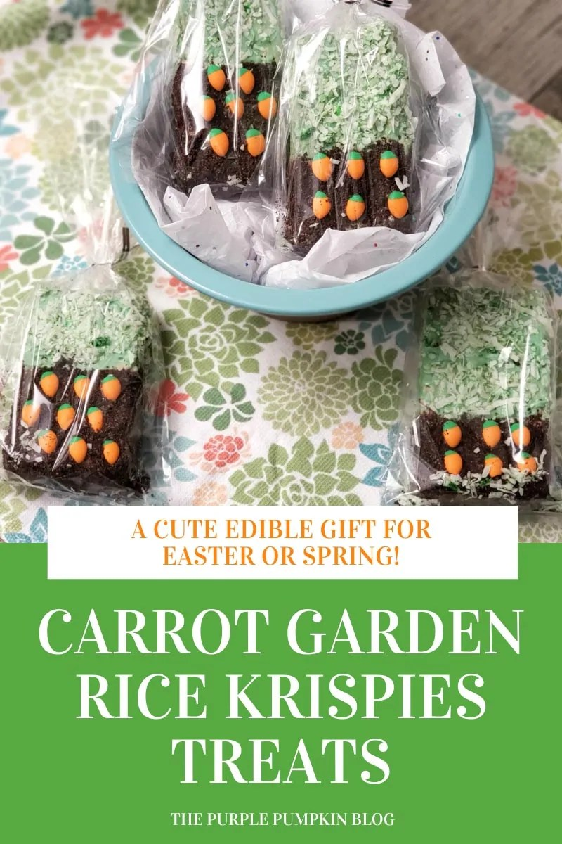 Carrot Garden Rice Krispies Treats