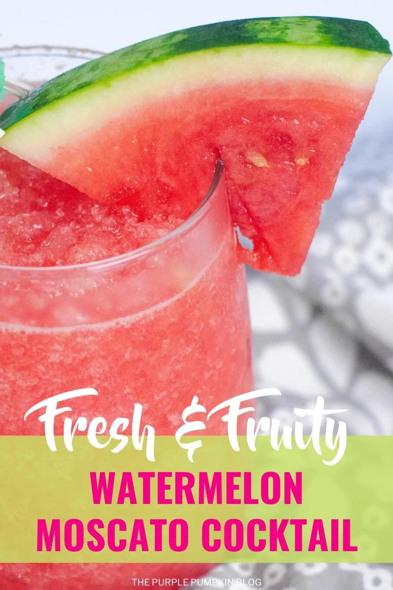 Fresh & Fruity Watermelon Moscato Cocktail