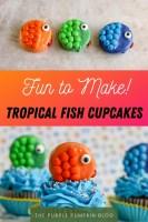 Fun to Make! Tropical Fish Cupcakes