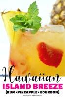 Hawaiian Island Breeze with Rum, Pineapple & Bourbon