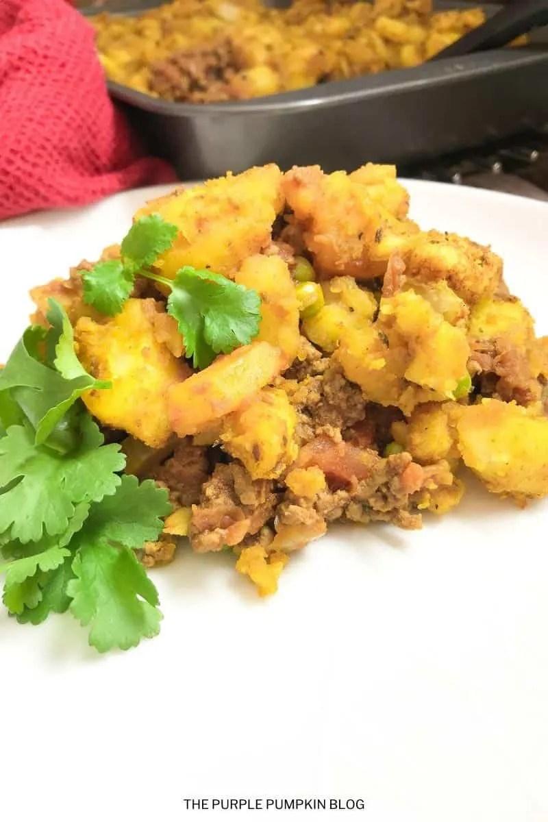 Indian Keema Matar Pie