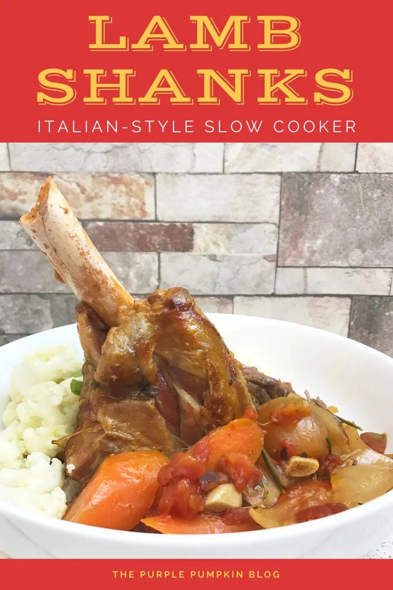 Lamb Shanks Italian-style in the Slow Cooker