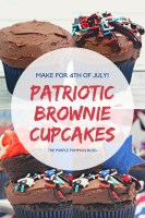 Make for 4th of July! Patriotic Brownie Cupcakes