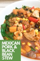 Mexican Pork & Black Bean Stew