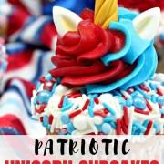 Patriotic Unicorn Cupcakes