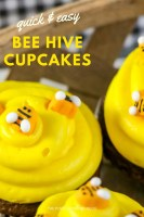 Quick & Easy Bee Hive Cupcakes