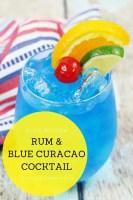 Rum & Blue Curacao Cocktail