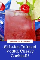 Skittles Infused Vodka Cherry Cocktail