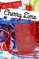 Skittles Vodka Cherry Lime Cocktail for Summer