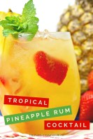 Tropical Pineapple Rum Cocktail