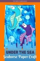 Under the Sea Seahorse Paper Craft