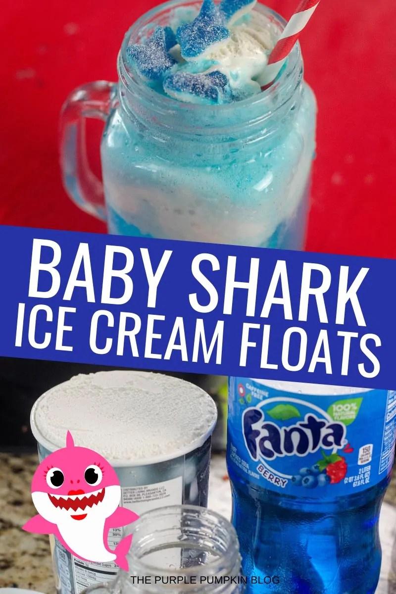 Baby Shark Ice Cream Floats