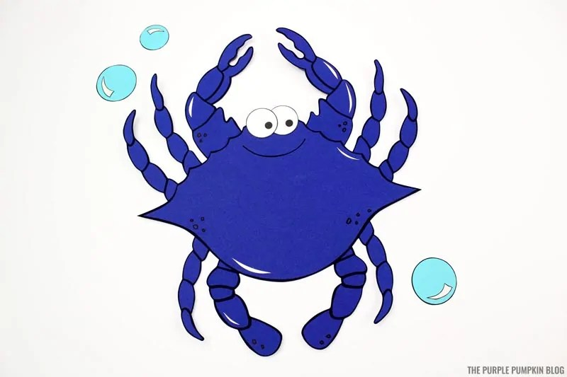 Completed paper crab