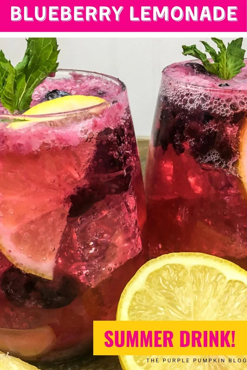 Blueberry Lemonade Summer Drink