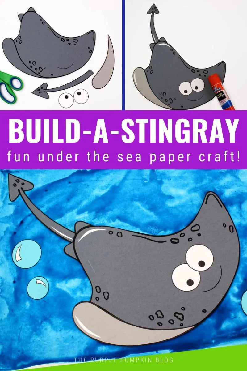 Build a Stingray - Fun Under the Sea Paper Craft