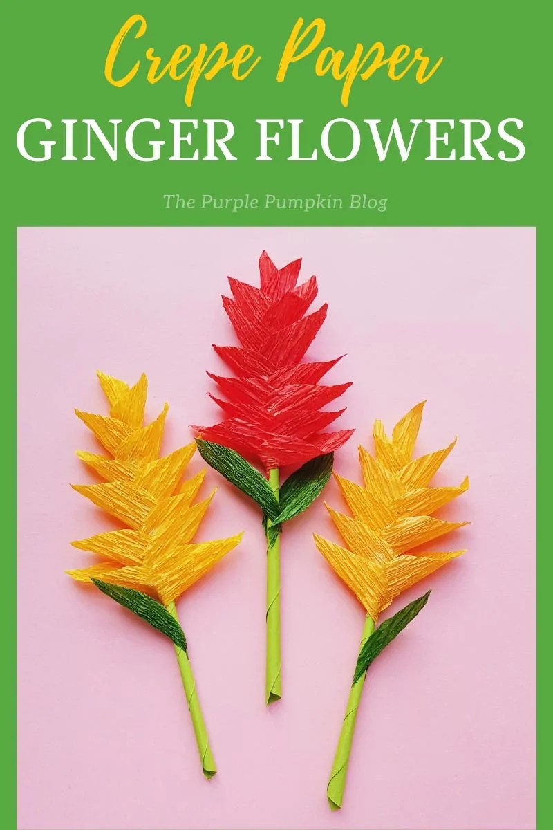 Crepe Paper Ginger Flowers
