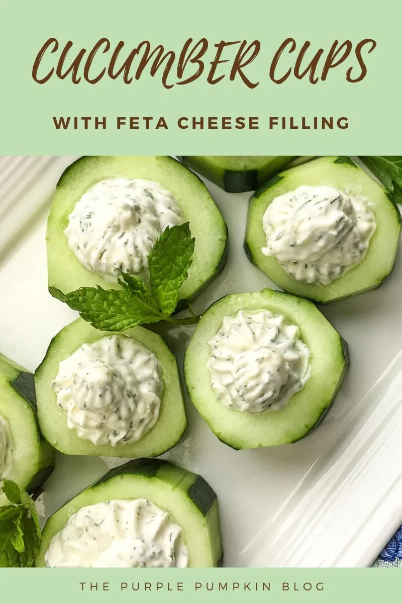 Cucumber Cups with Feta Cheese Filling
