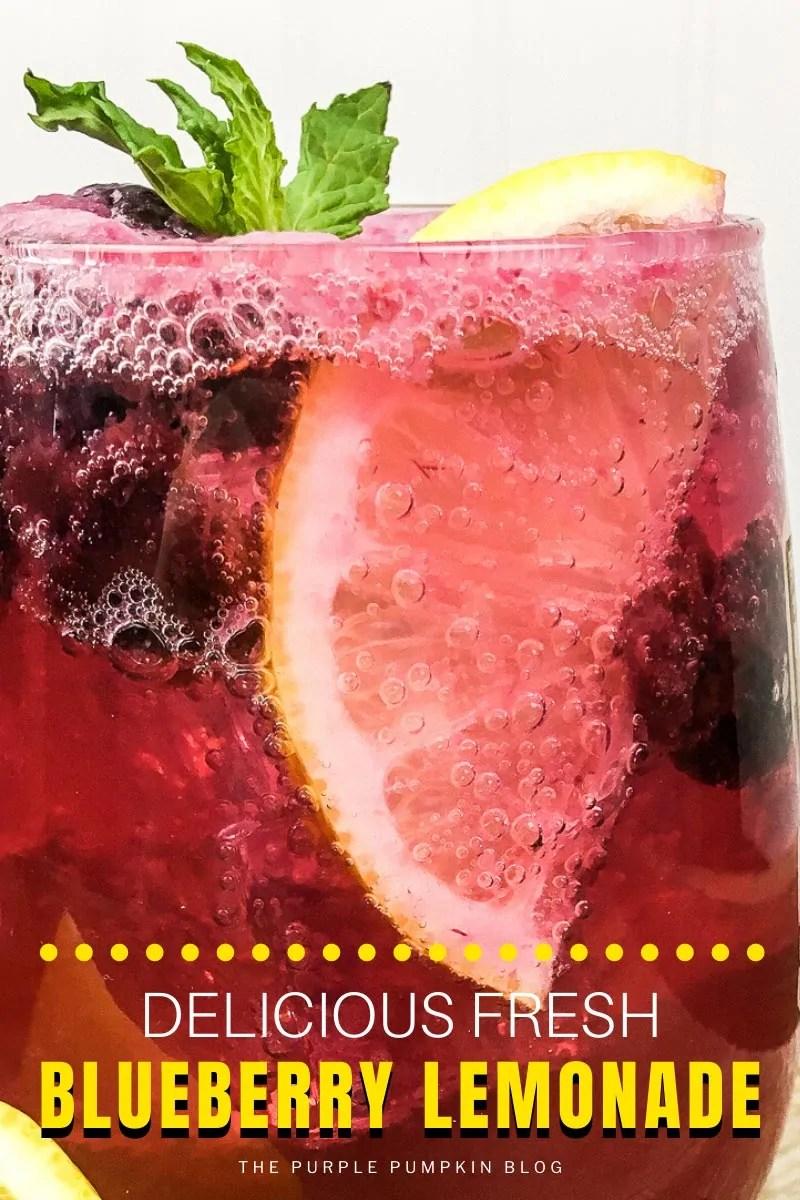 Delicious Fresh Blueberry Lemonade