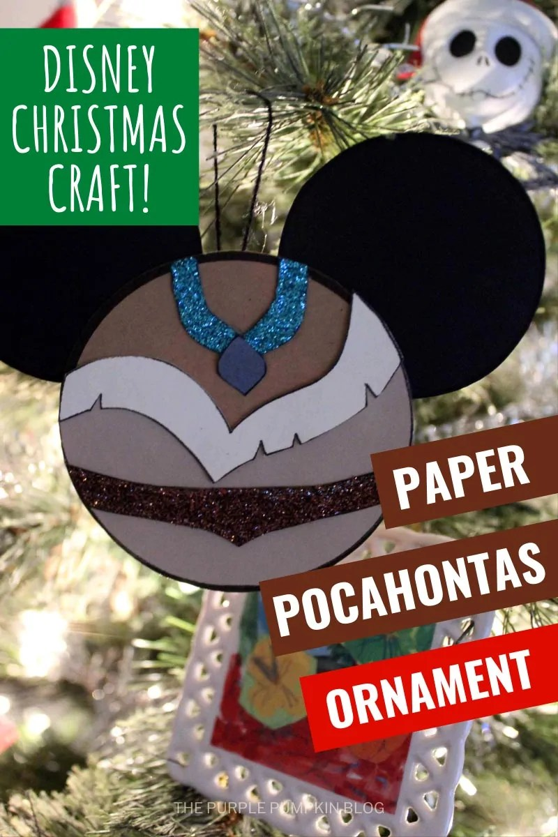 Disney Christmas Craft - Paper Pocahontas Ornament