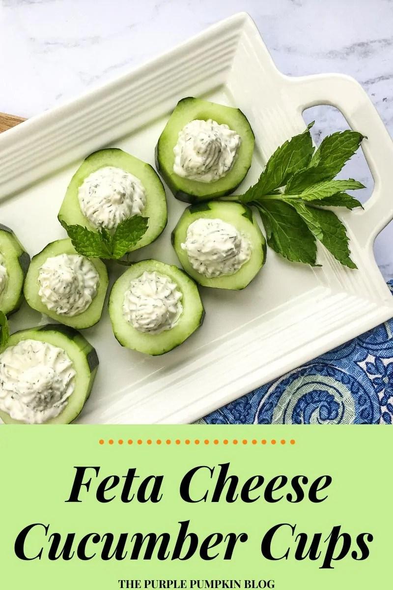 Feta Cheese Cucumber Cups