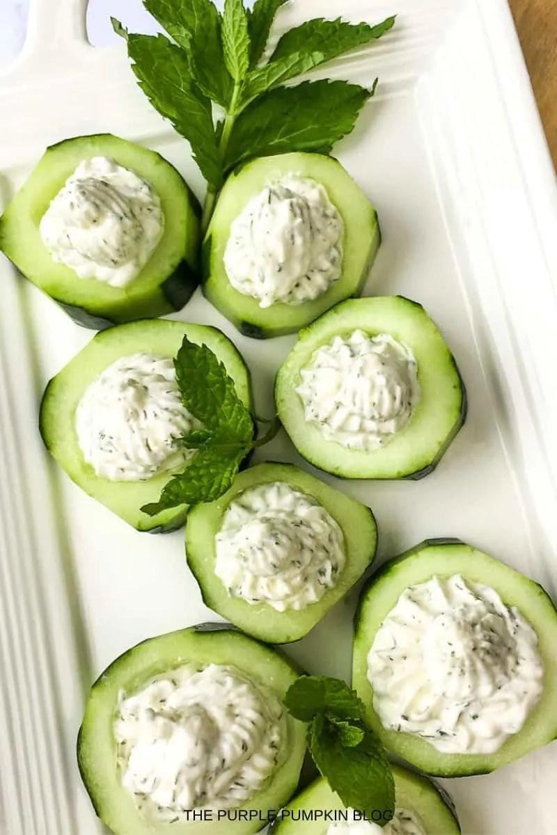 Feta Cucumber Cups Appetizer