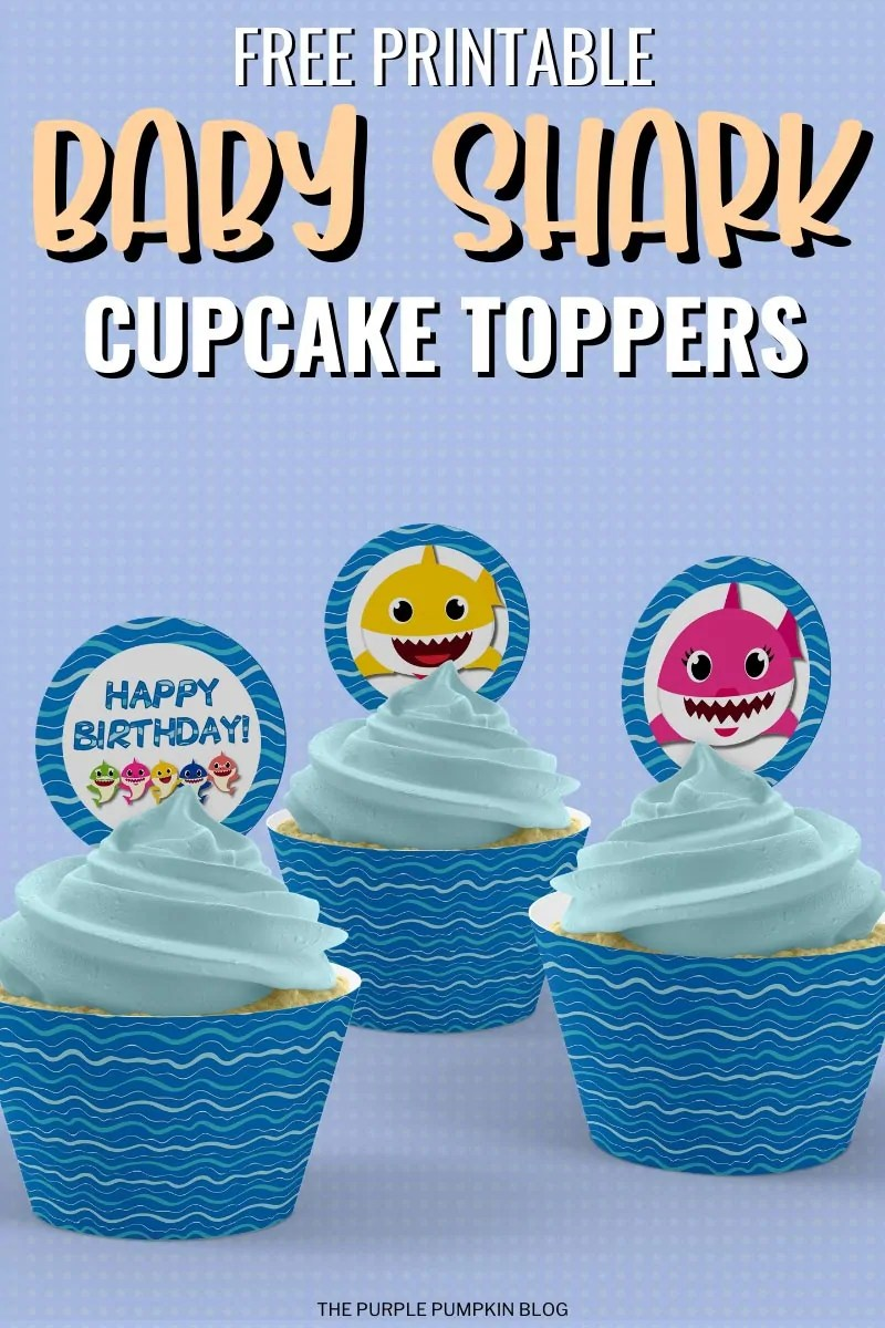 Free Printable Baby Shark Cupcake Toppers
