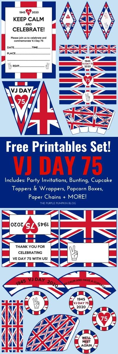 Free Printables for VJ Day 75